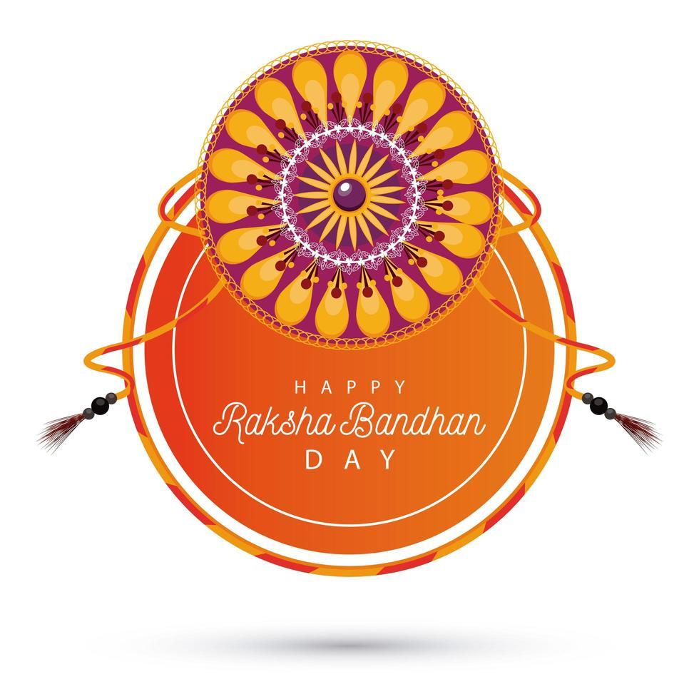 india raksha bandhan decoración floral vector