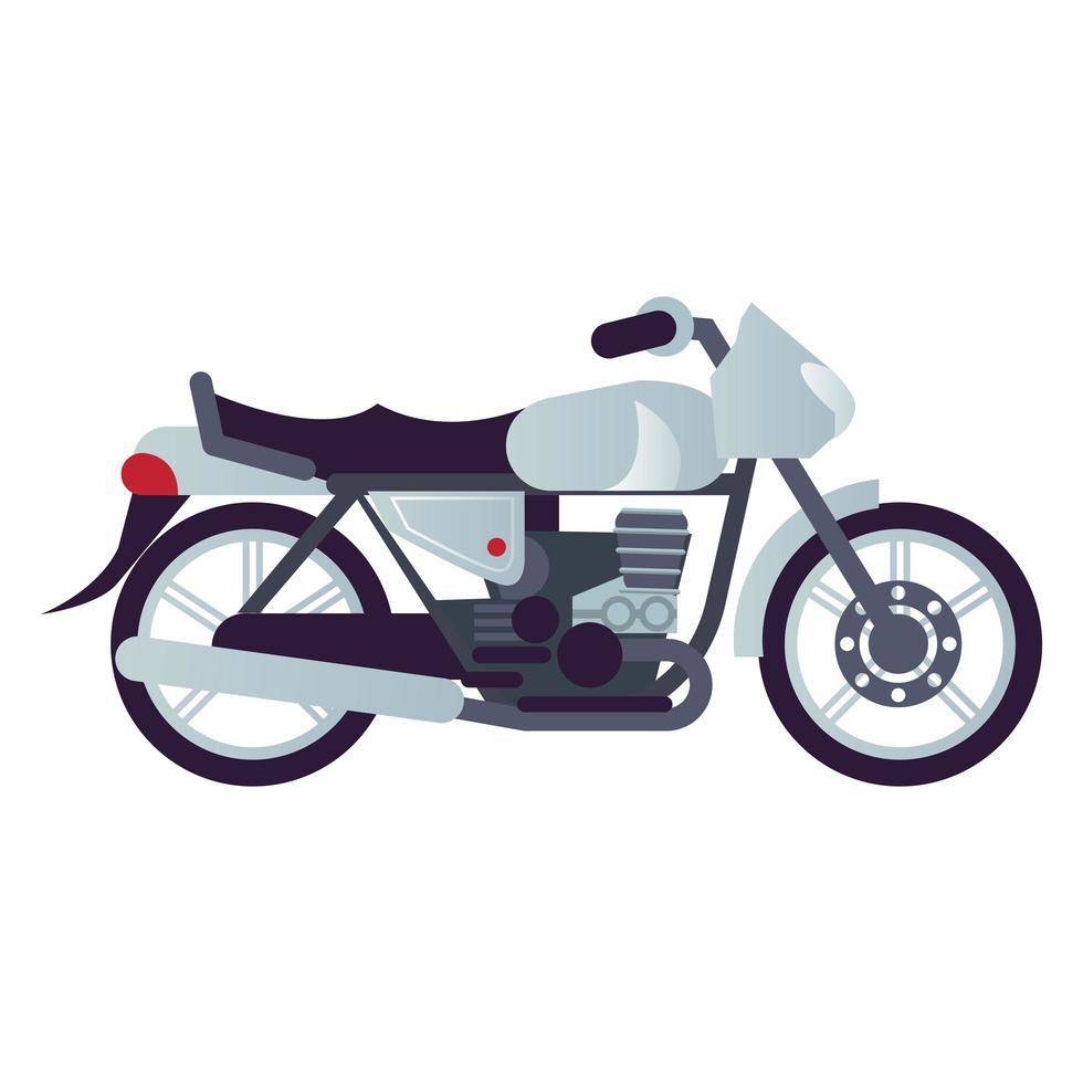brat motorcycle style vehicle icon vector