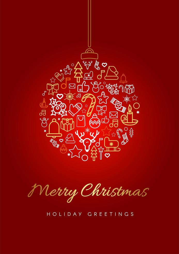 Merry Christmas Greeting Card Template Download Free Vectors Clipart Graphics Vector Art