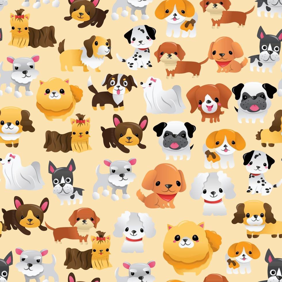 super lindo cachorros de dibujos animados de fondo transparente vector