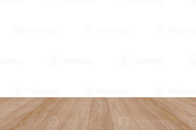 Wood shelf on white background photo