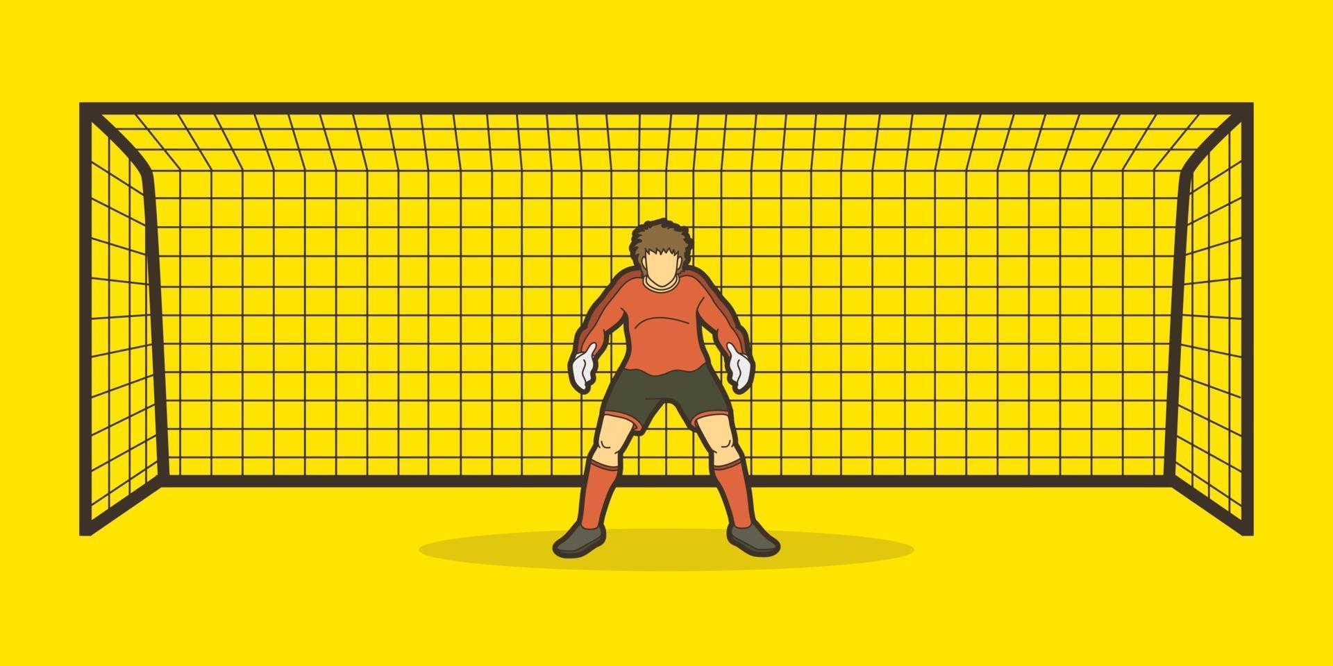 portero futbolista vector
