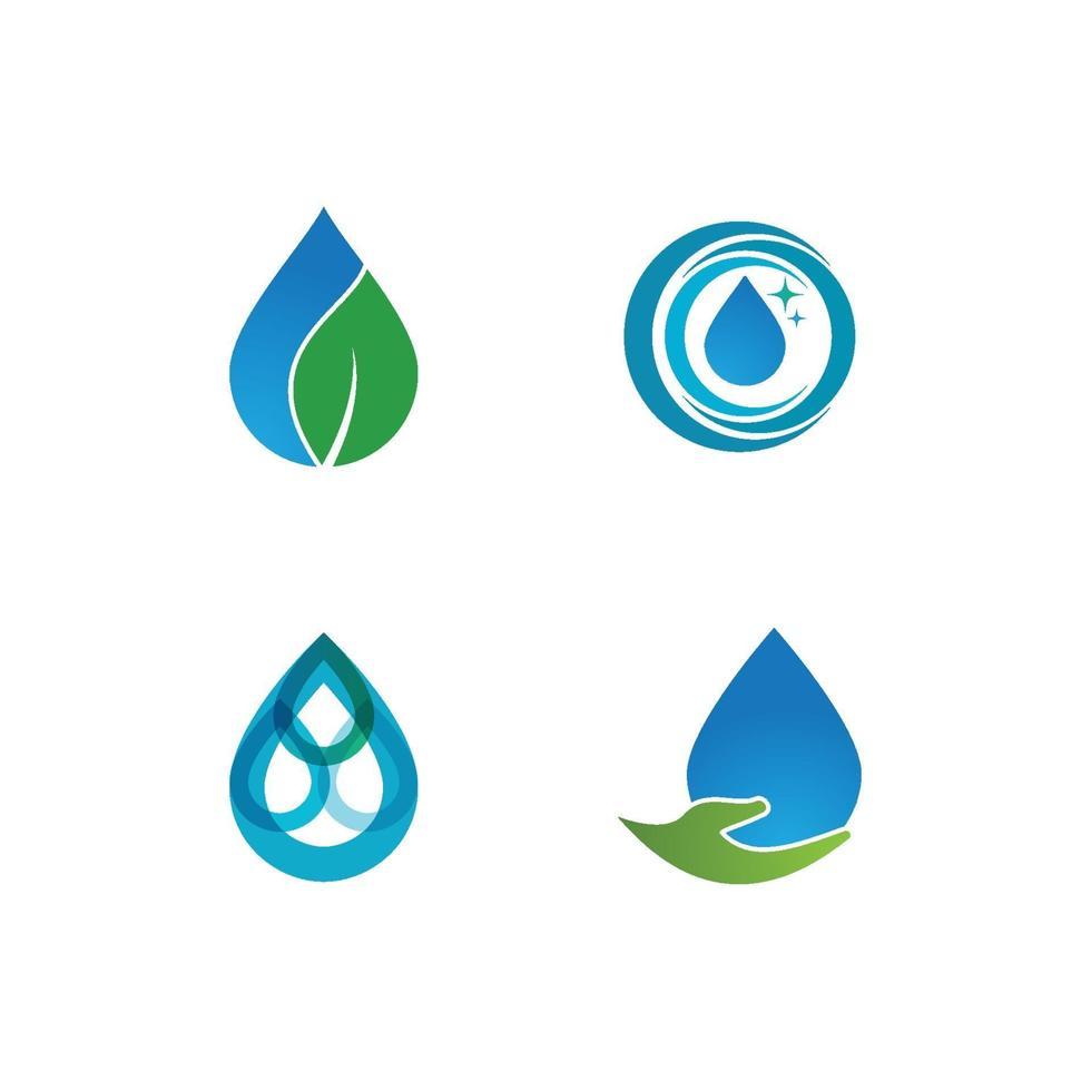 logotipo de gota de agua vector