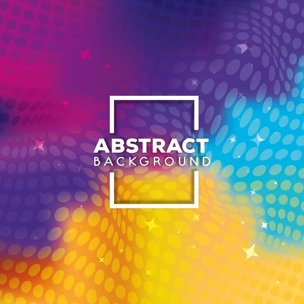 fondo abstracto con puntos vibrantes vector