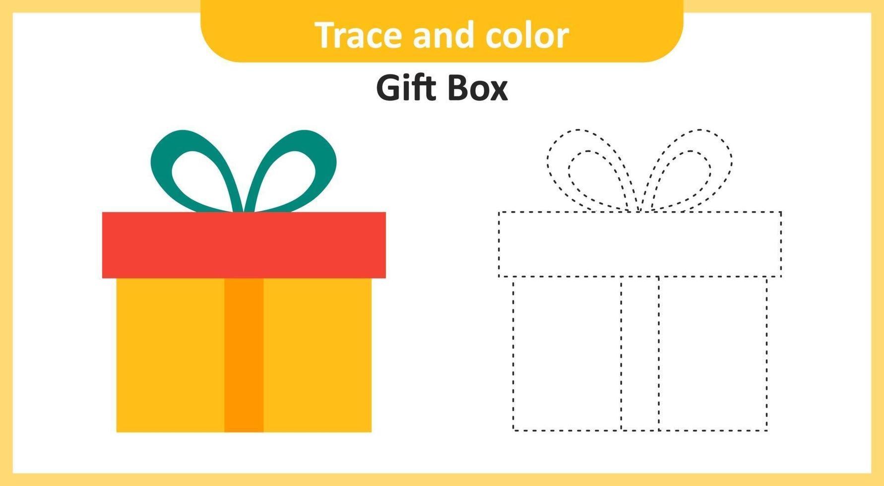 caja de regalo de rastro y color vector