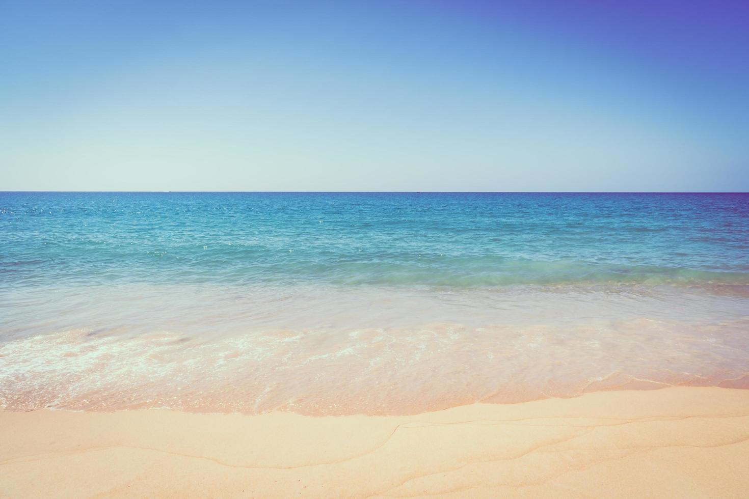 Beautiful sandy beach and sea photo