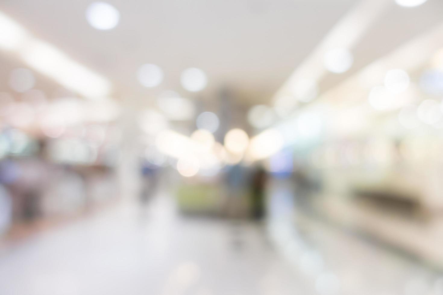 Fondo de centro comercial borroso abstracto foto