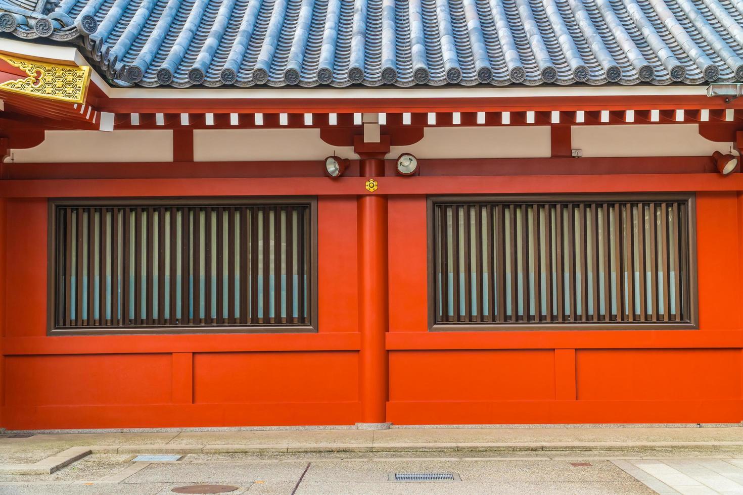templo sensoji en el área de asakusa, tokio, japón foto