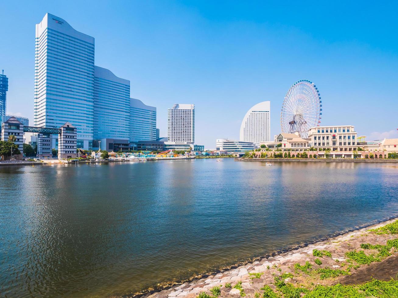 Yokohama skyline in Japan photo