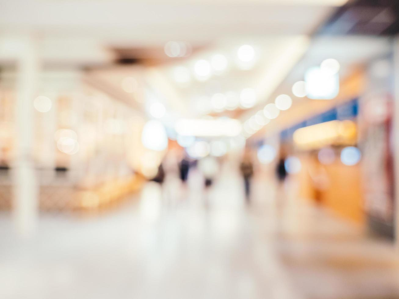 Abstract blur and defocused shopping mall background photo