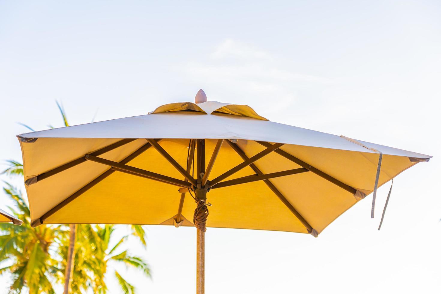 Beautiful tropical nature and umbrella photo