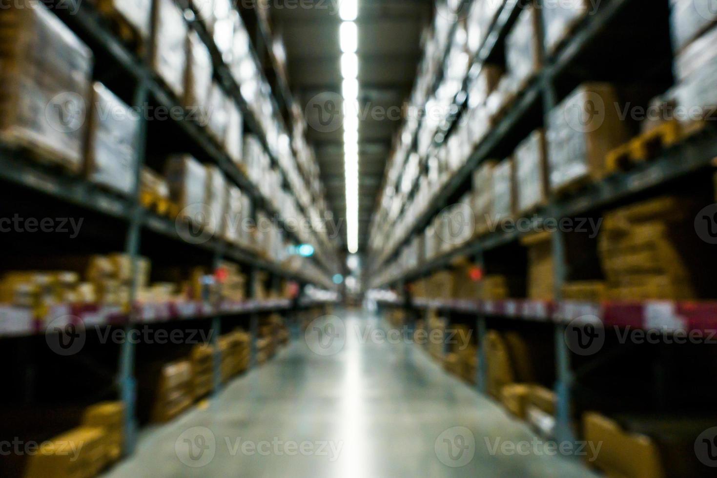 Blurry warehouse background photo