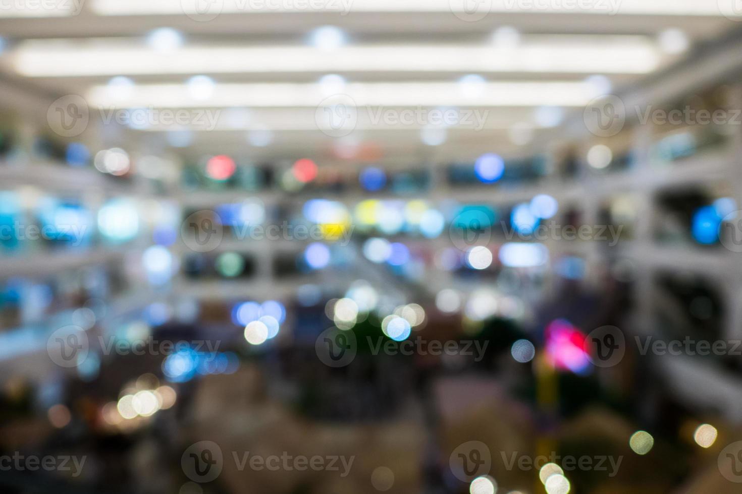 Blurry shopping mall background photo