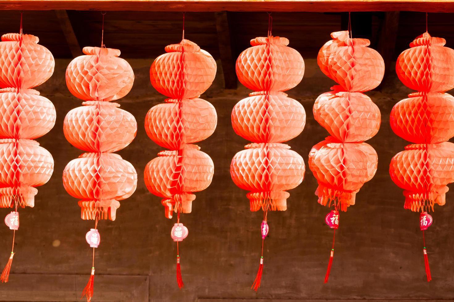 linternas rojas para el año nuevo chino foto