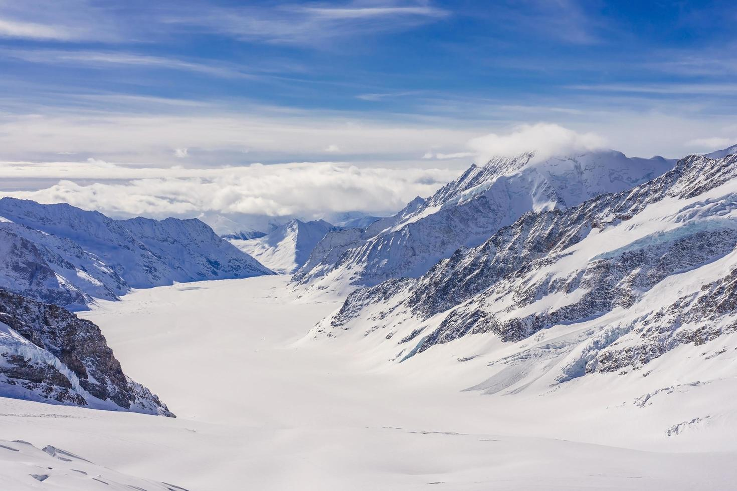 Jungfraujoch - glaciar aletsch o glaciar fletsch, suiza foto