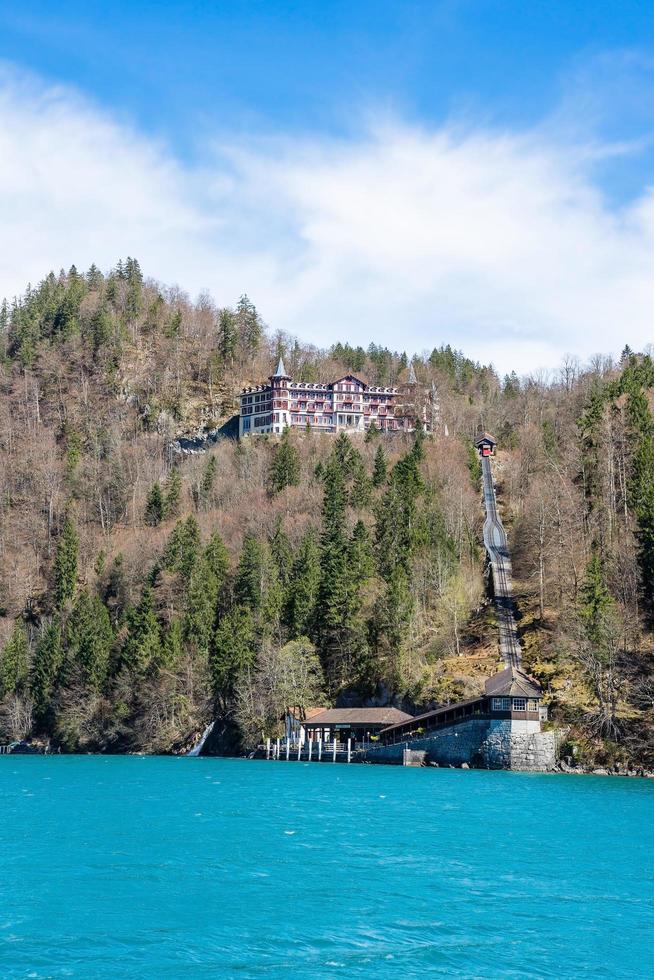 Brienz town on Lake Brienz by Interlaken, Switzerland photo