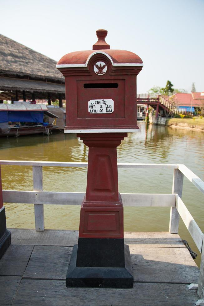 Casilla postal antigua en Bangkok, Tailandia foto