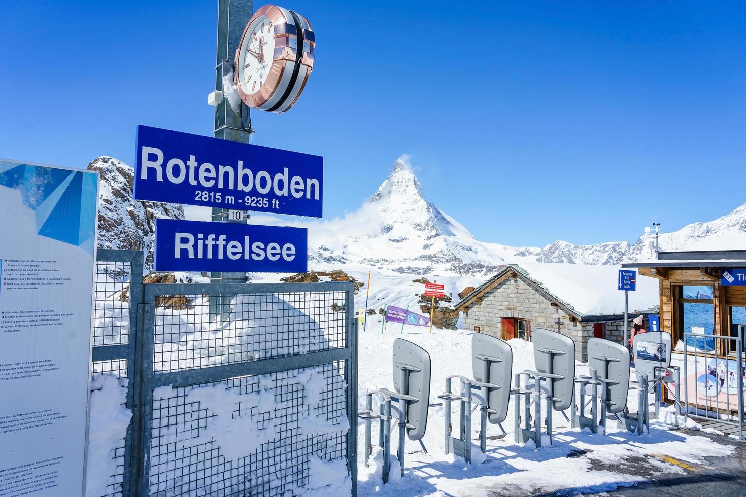 Estación rotenboden en Zermatt, Suiza, 2018 foto