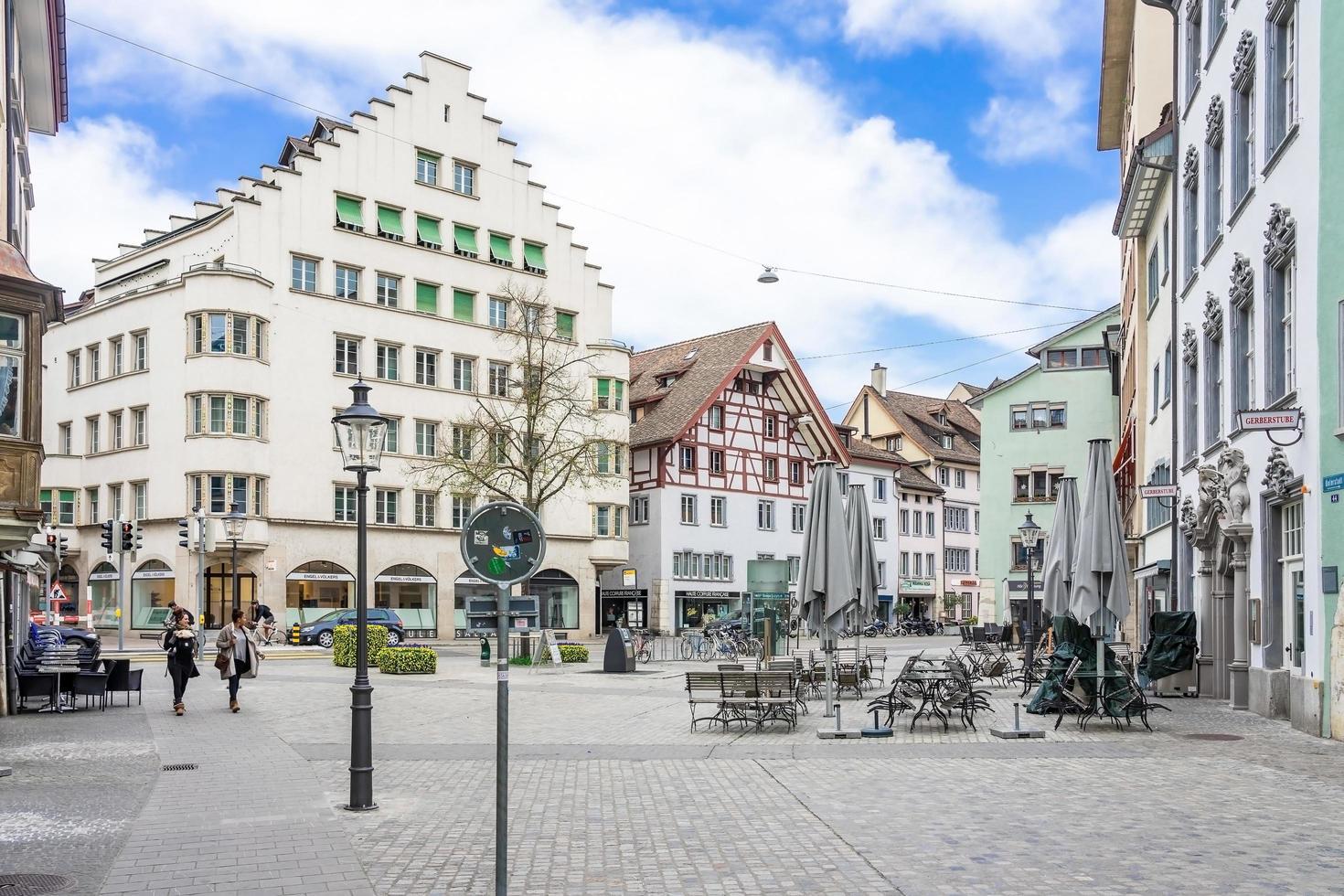 Calle vordergasse en Schaffhausen, Suiza, 2018 foto