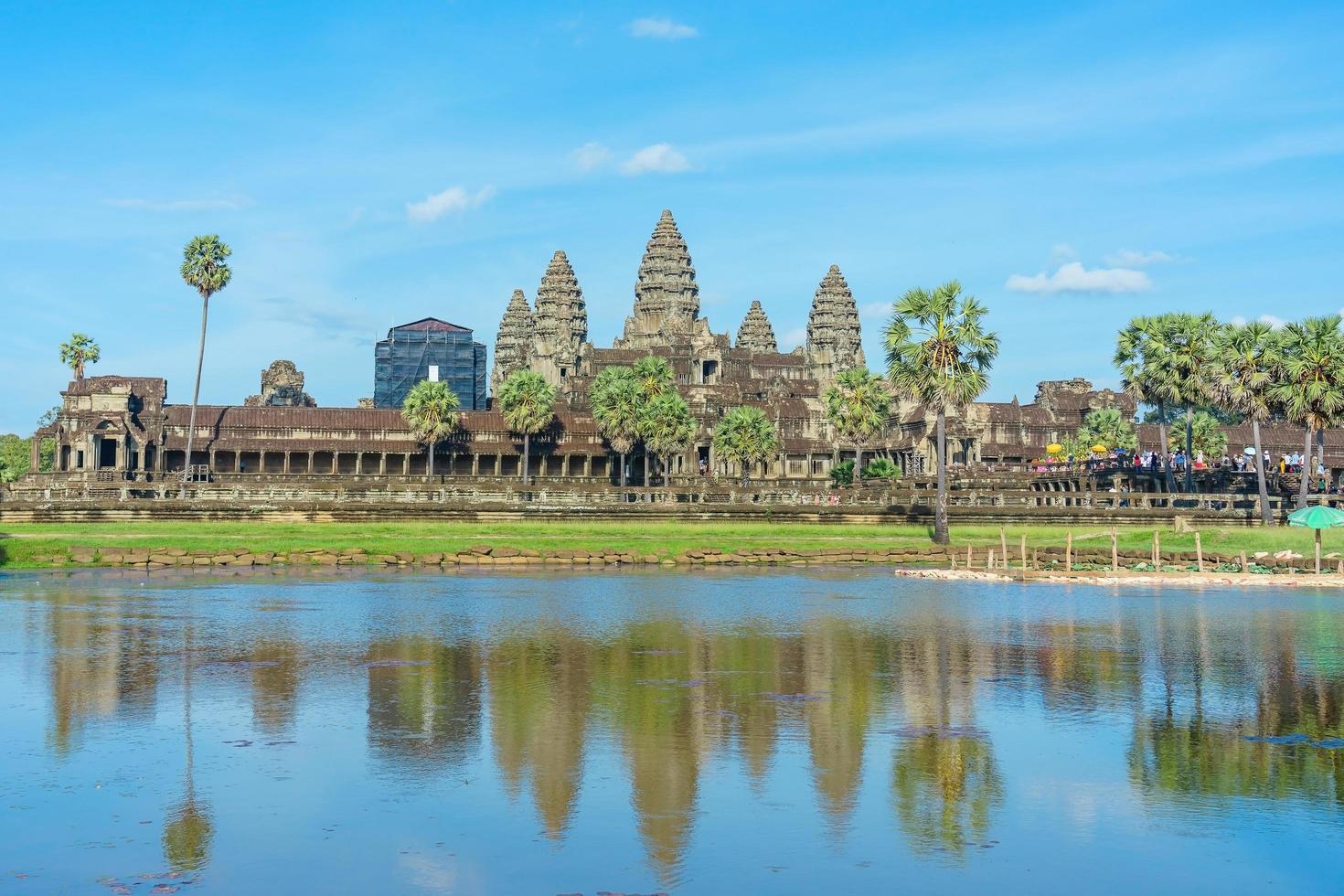 Antiguo templo en Angkor Wat, Siem Reap, Camboya foto