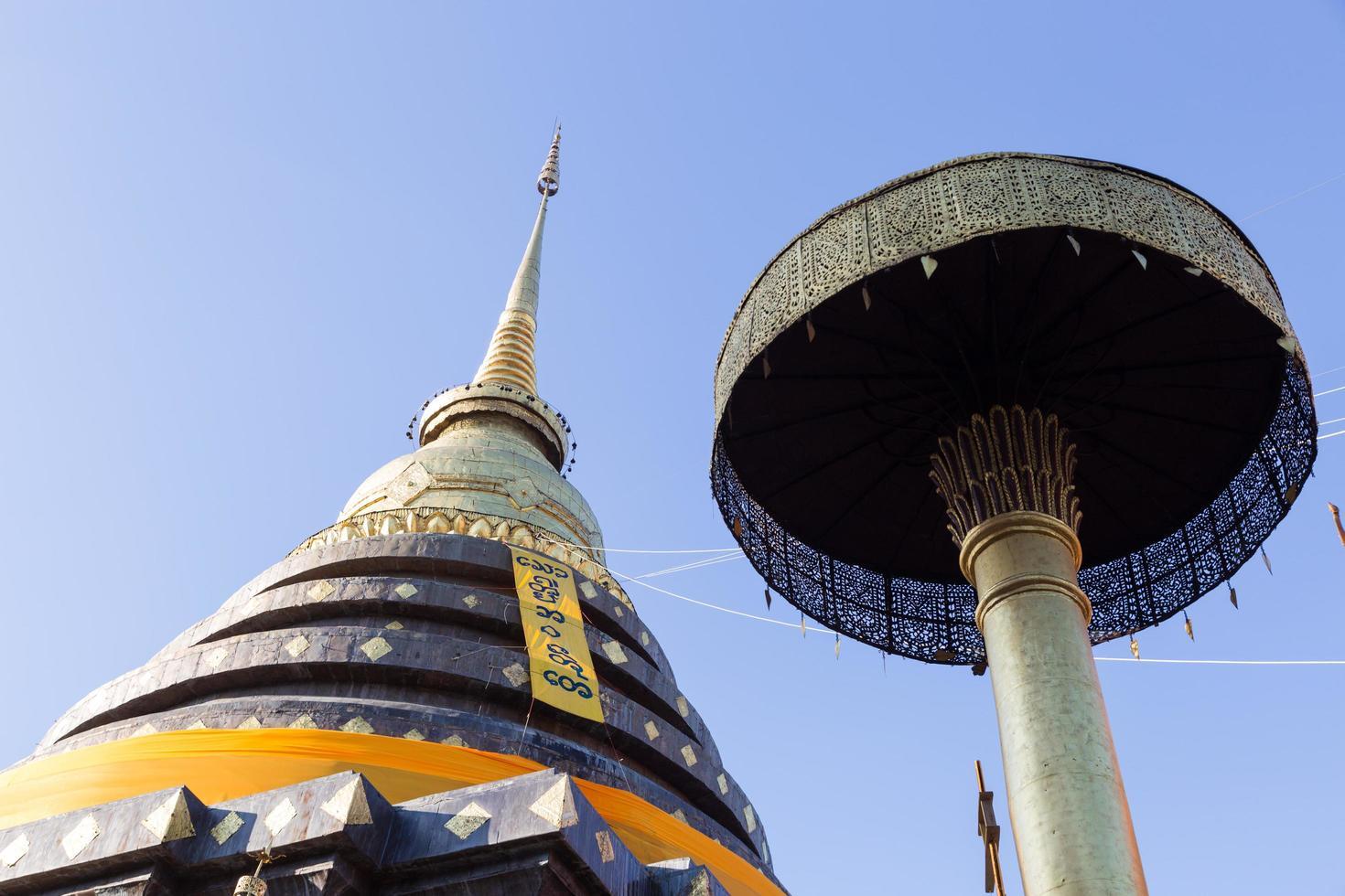 wat phra ese templo de lampang luang foto