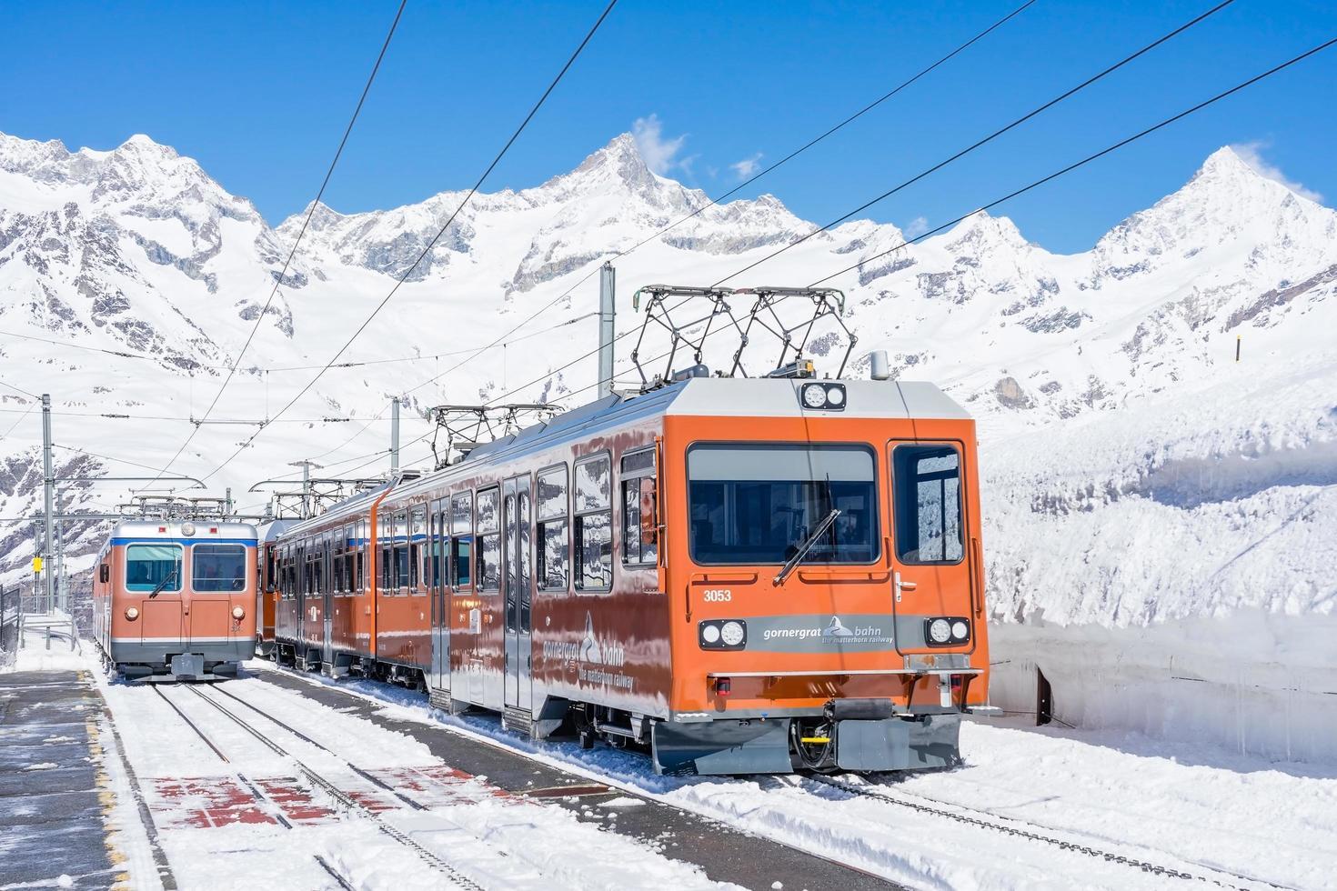 El Matterhorn Gotthard Bahn en Riffelberg, Suiza foto