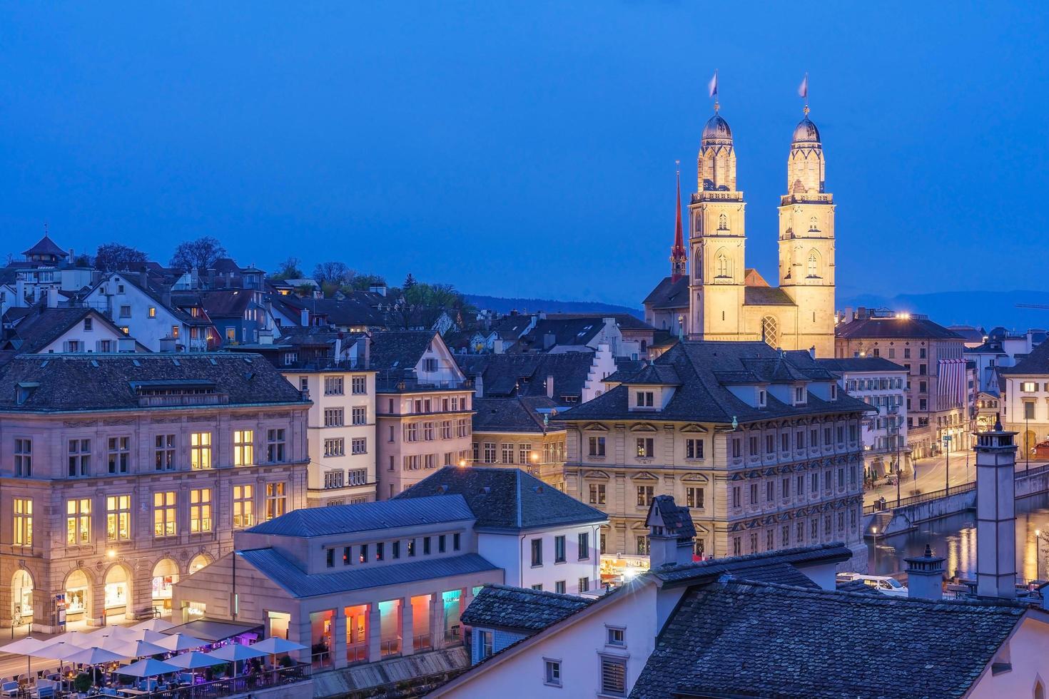 centro de la ciudad de zurich, suiza foto