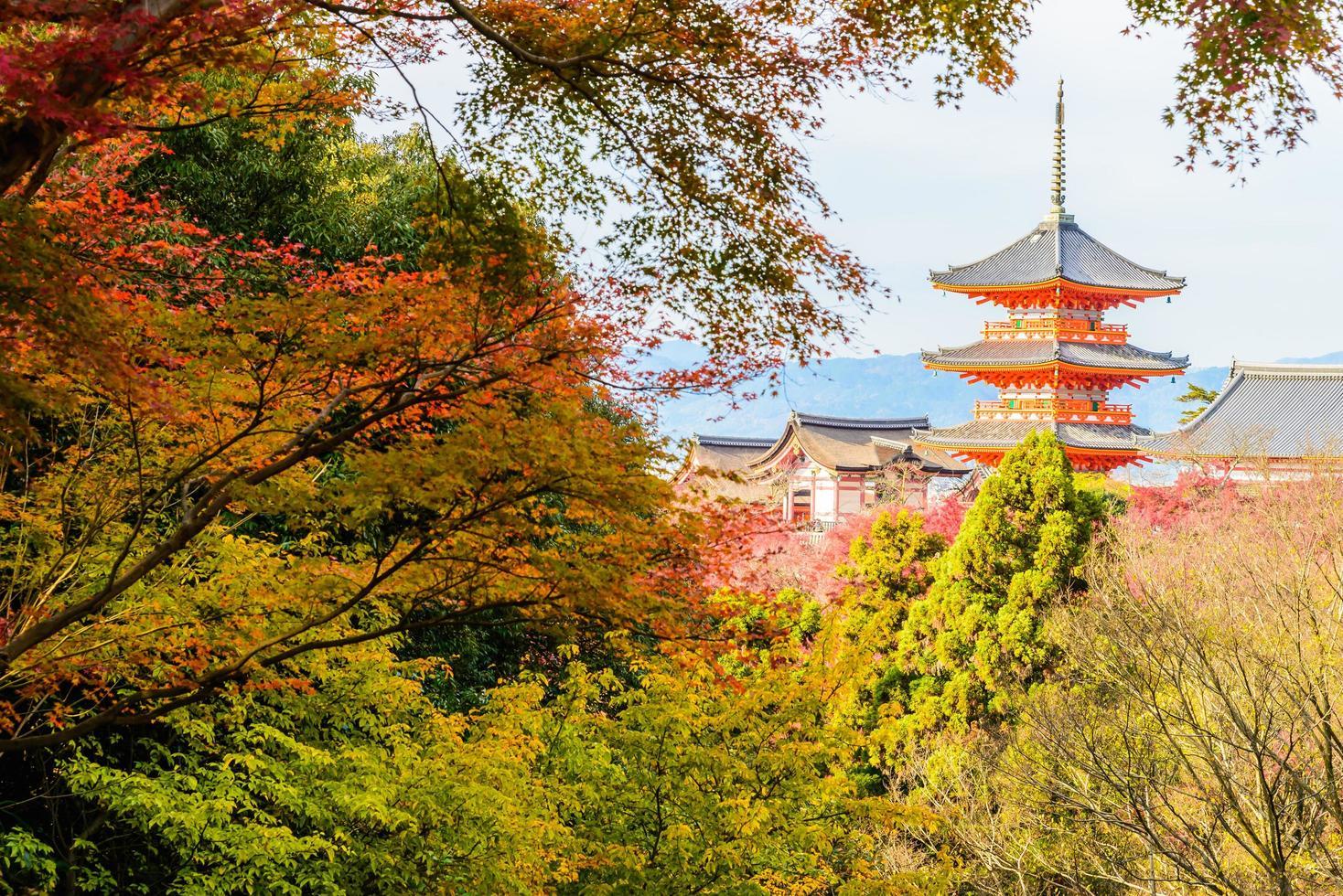 Kiyomizu dera temple in Kyoto, Japan photo