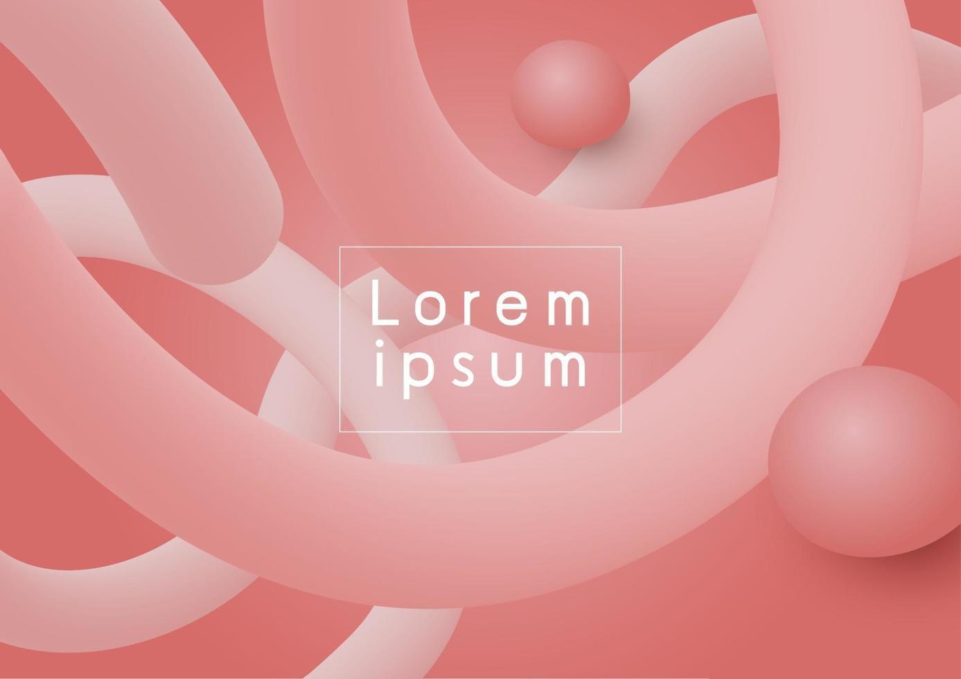 Diseño de fondo moderno abstracto de color coral fluido 3d que fluye ilustración vectorial vector