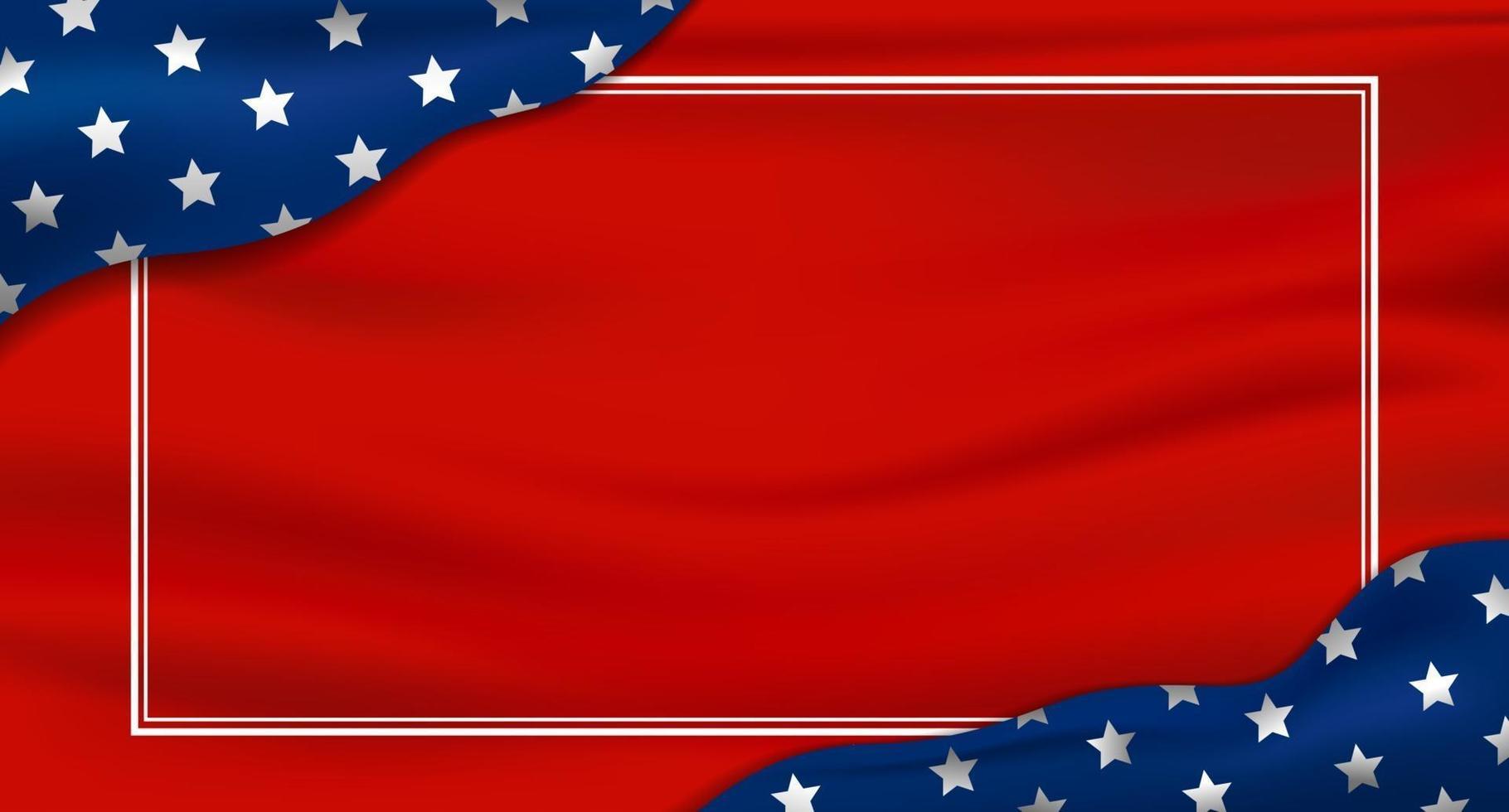 Fondo de vacaciones de Estados Unidos o Estados Unidos 4 de julio día de la independencia y otra celebración ilustración vectorial vector