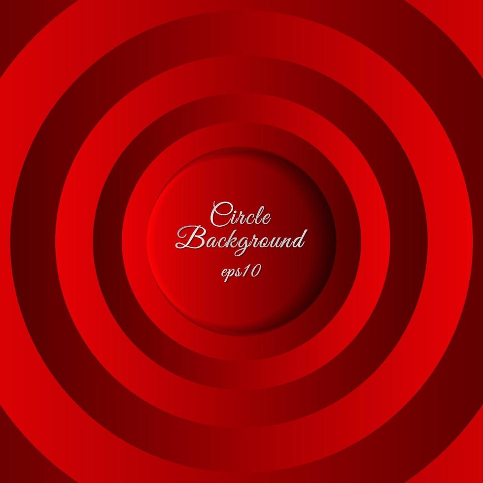 círculos rojos abstractos 3d capa espacio sombra superposición y dimensión de fondo. vector