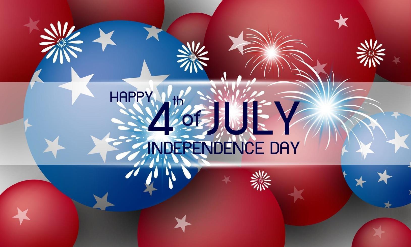feliz 4 de julio día de la independencia américa vacaciones diseño de fondo ilustración vectorial vector