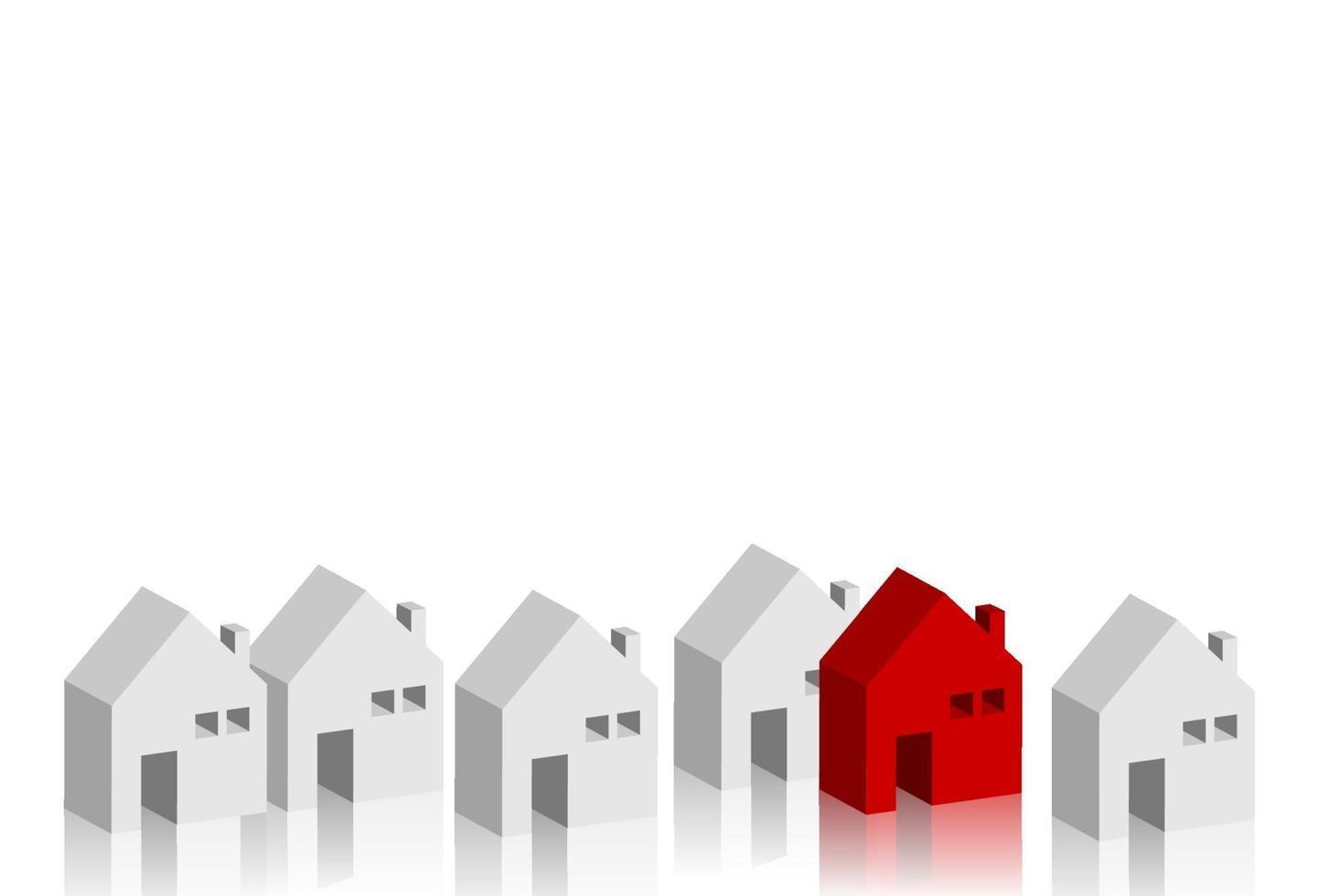 Ilustración de vector de concepto de negocio de edificios de diseño isométrico casero
