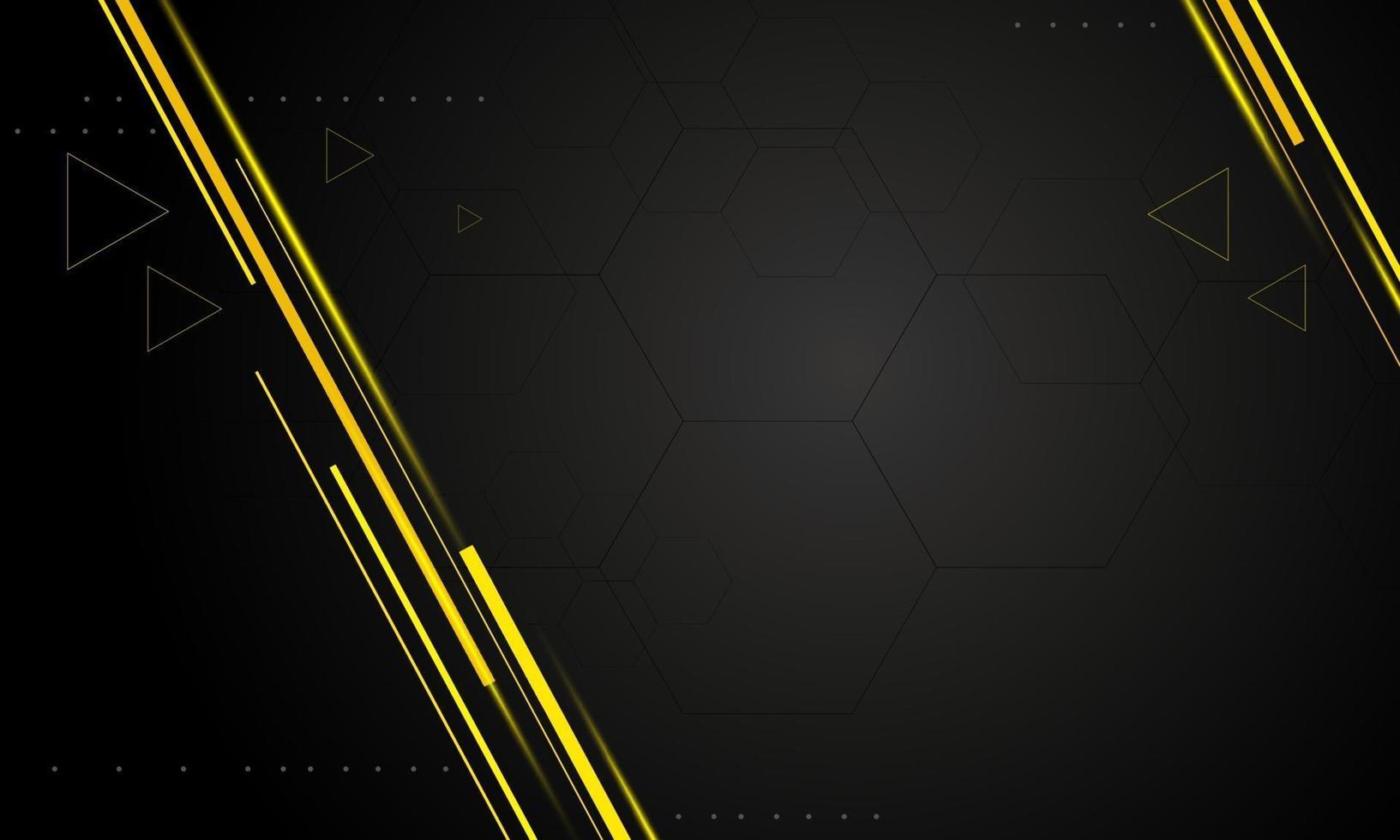 Diseño de fondo de tecnología moderna negra con ilustración de vector de espacio de copia