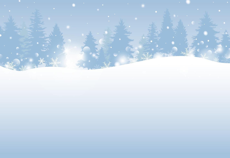 Diseño de invierno y navidad 0f pino con ilustración de vector de nevadas