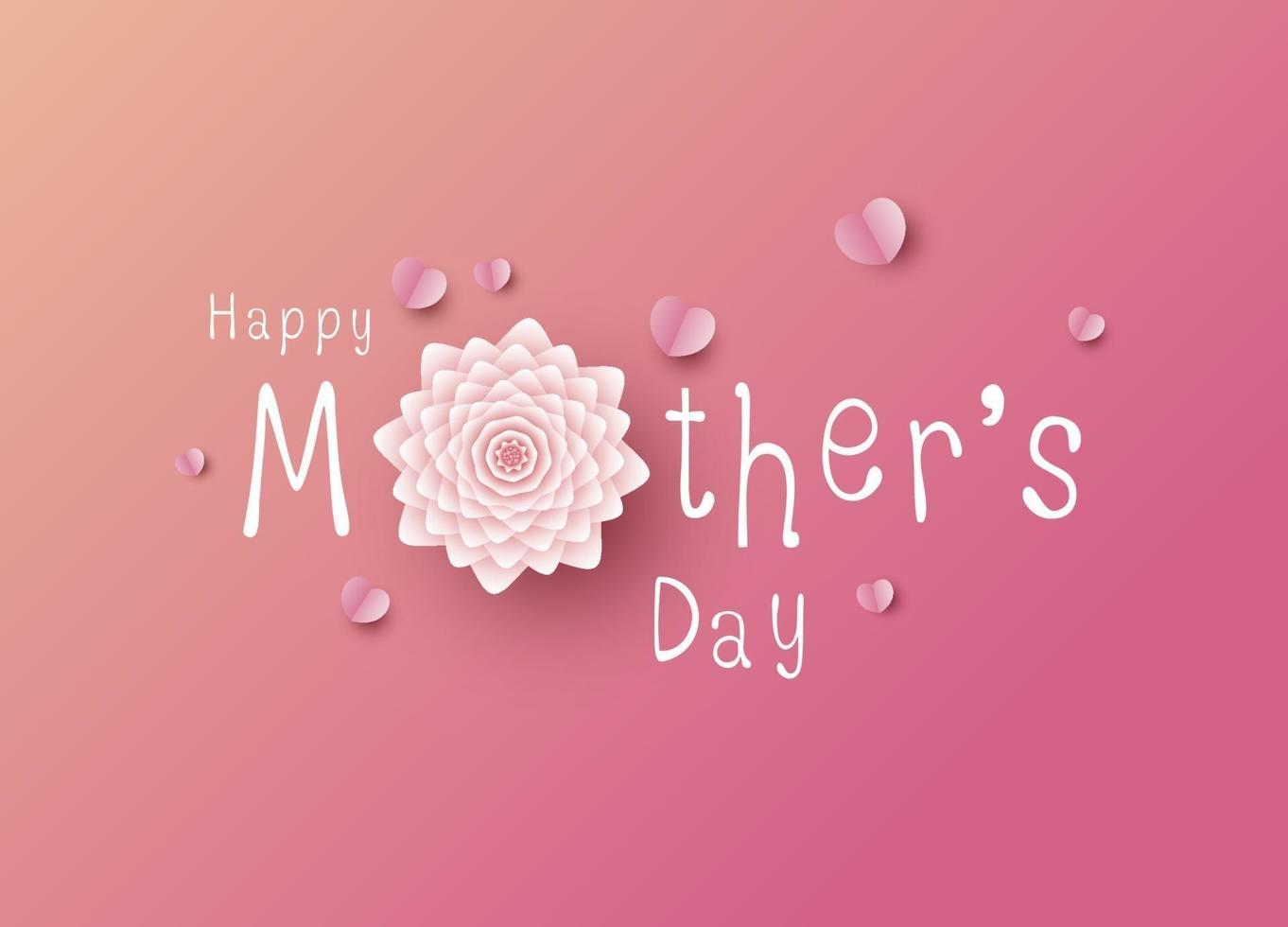 Diseño de feliz día de las madres sobre fondo rosa ilustración vectorial vector