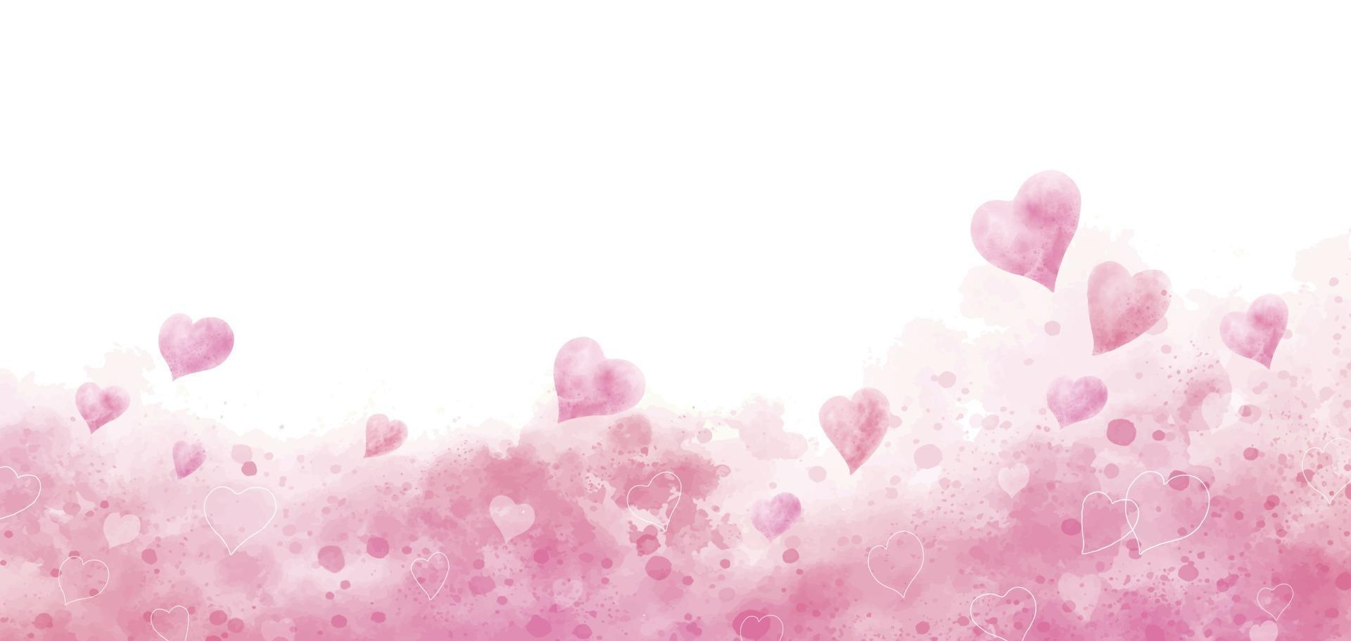 Valentine S Day And Wedding Background Design Of Watercolor Hearts Vector Illustration 2011637 Vector Art At Vecteezy