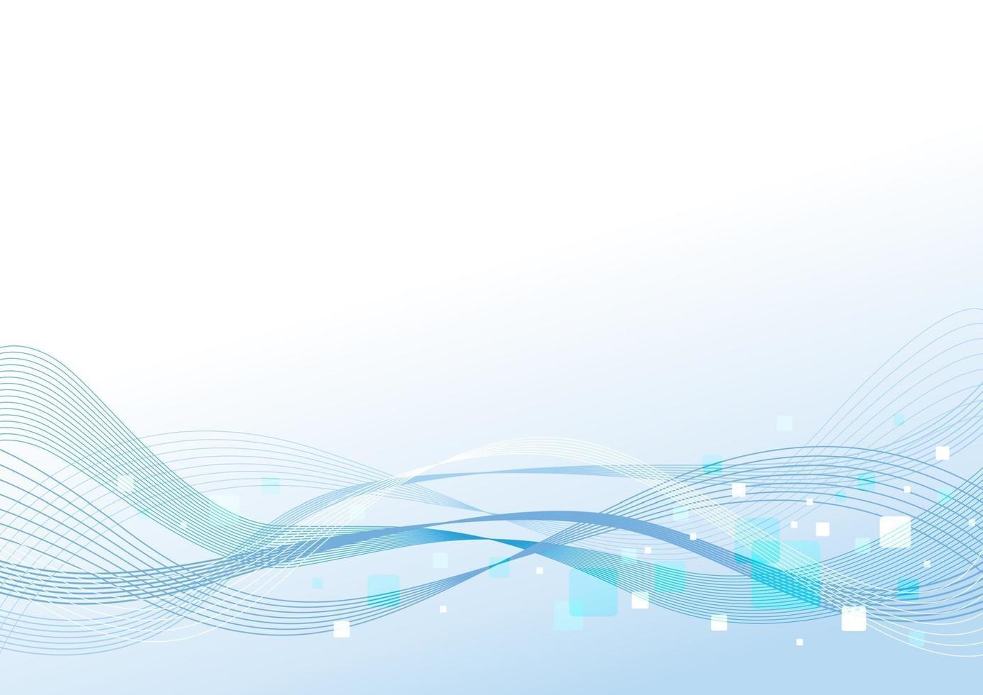 Diseño de fondo abstracto de la ilustración de vector de onda de línea