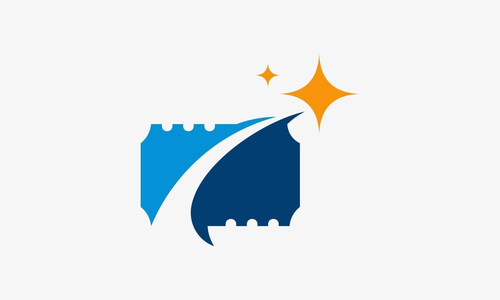 diseño de icono de boleto estrella vip vector