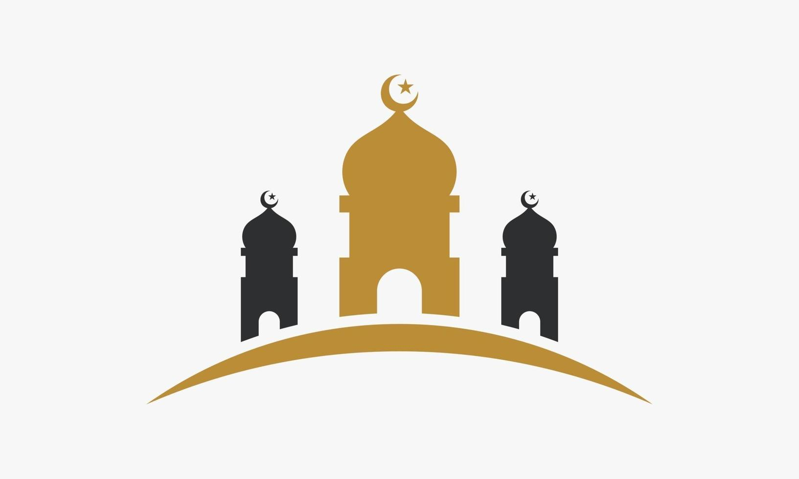 gran mezquita icono de diseño vector