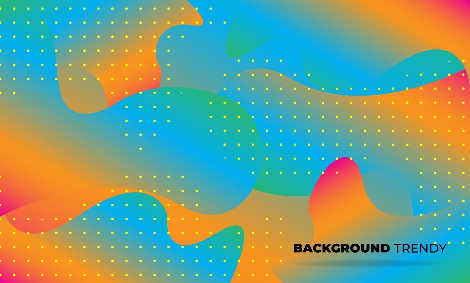 papel tapiz geométrico creativo. composición de formas de gradiente de flujo de fluido de moda. Fondo de empresa de suministro visual para tarjeta de regalo, póster en plantilla de póster de pared, página de destino, ui, ux, coverbook, baner, vector