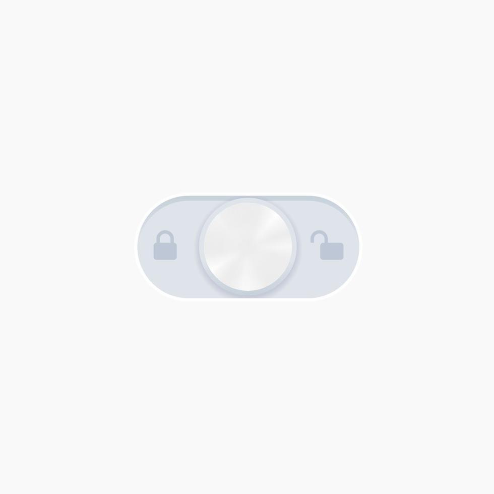 Diseño de vector de interruptor de bloqueo para web y apps.eps