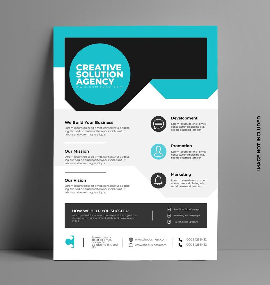 Professional Company Flyer Template. vector