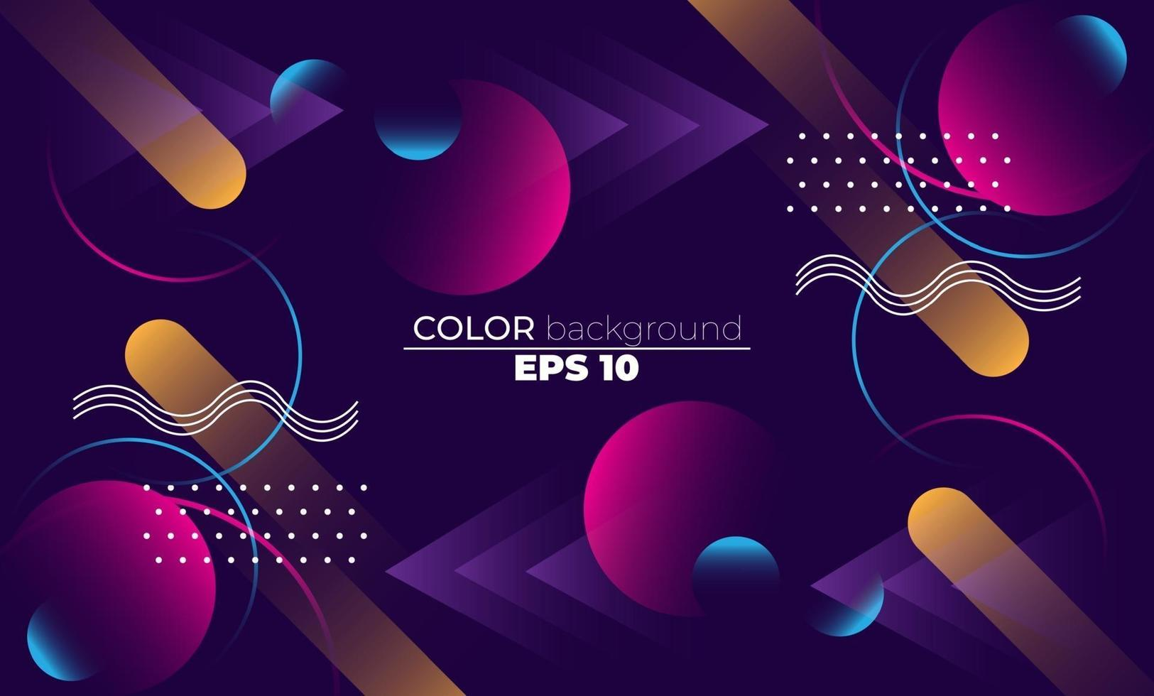 Colorful geometric background with gradient motion shapes composition. Applicable for gift card,  Poster on wall poster template,  landing page, ui, ux ,coverbook,  baner, social media posted, vector