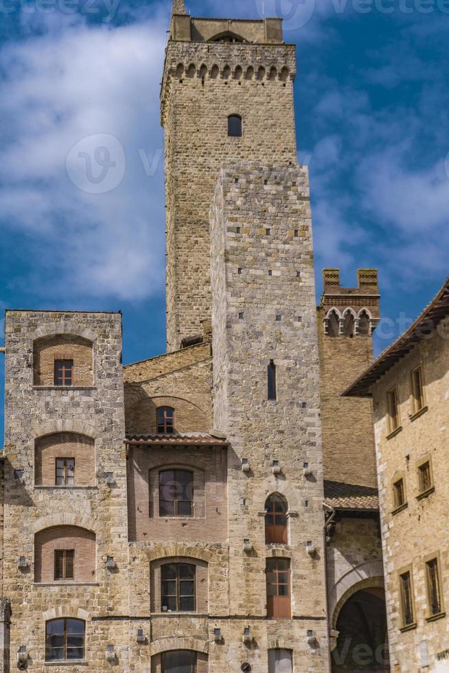 San Gimignano en Toscana, Italia foto