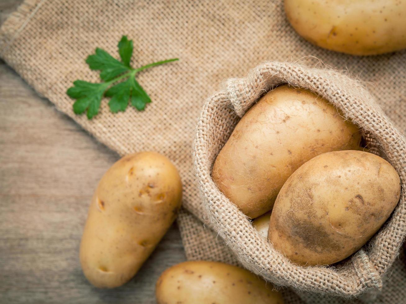 Fresh organic potatoes photo