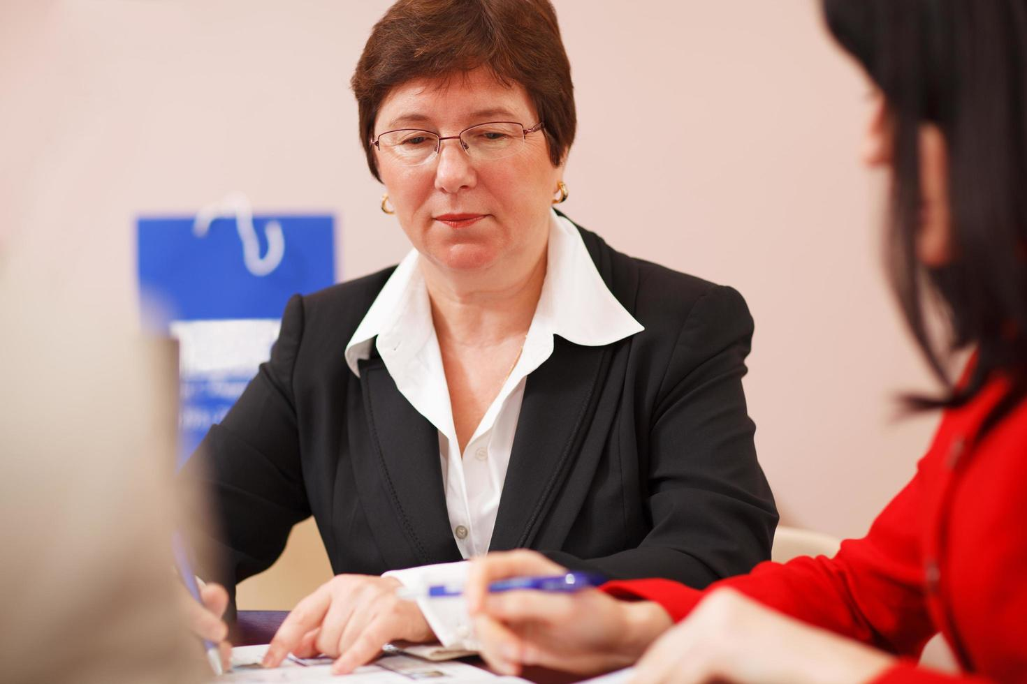 Female business executive in a meeting photo