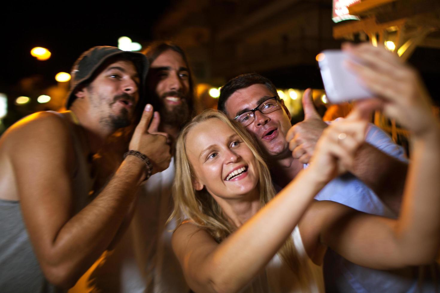 Friends taking a selfie photo