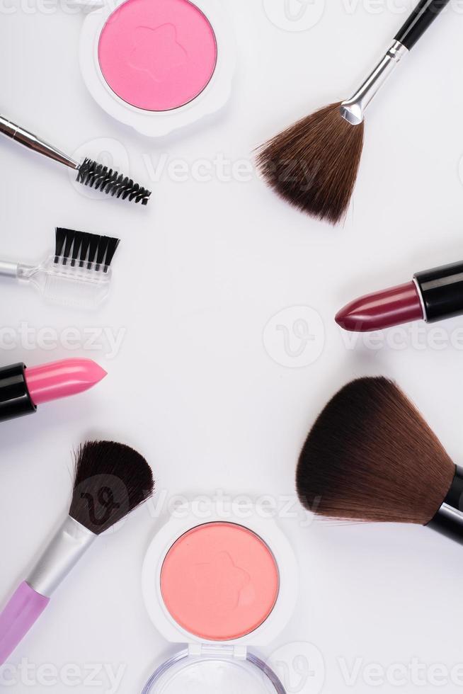 Cosmetics isolated on white background photo