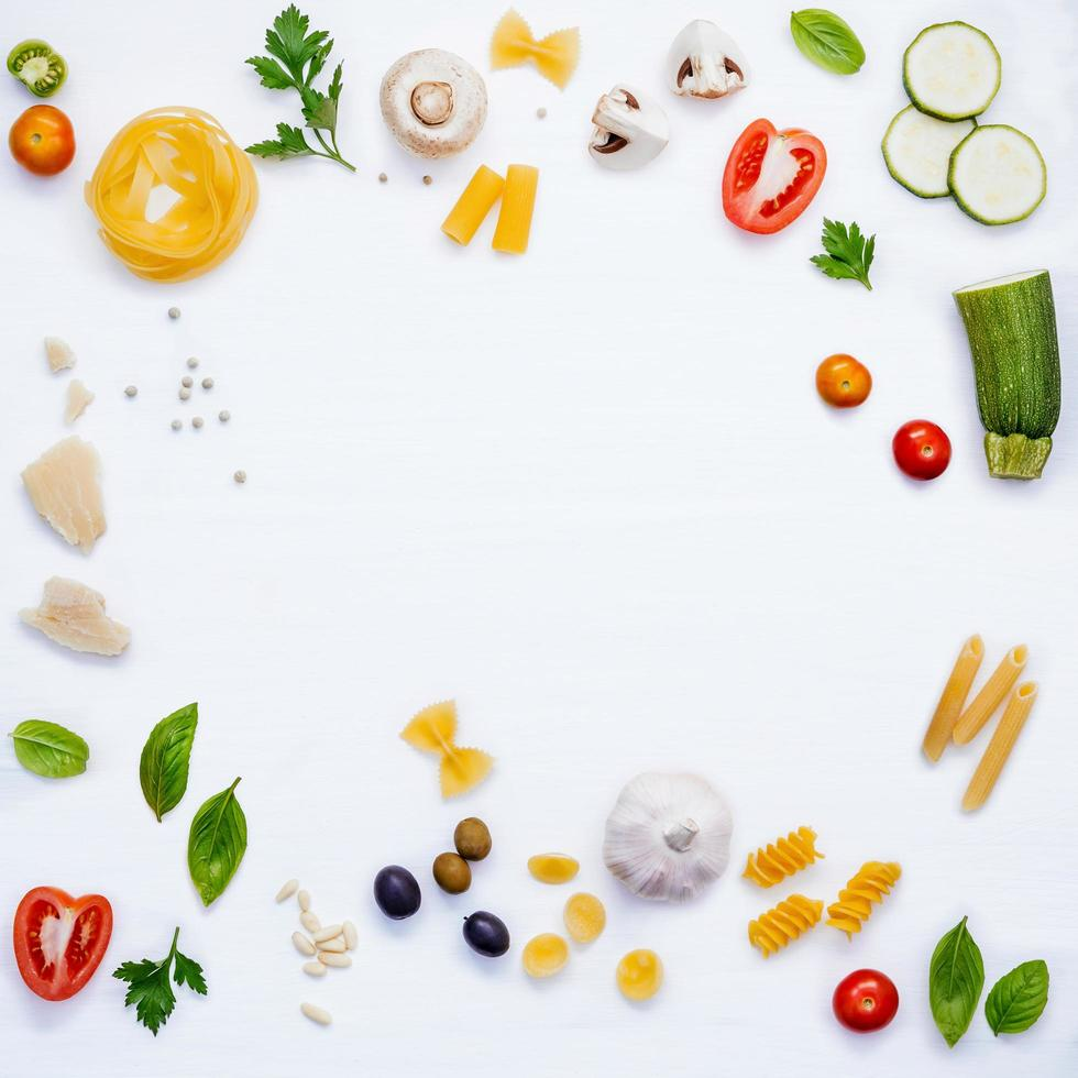 Frame of cooking ingredients photo